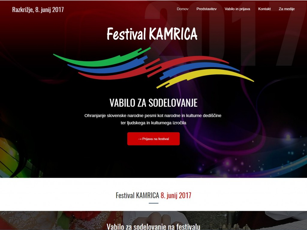Festival Kamrica, Vabilo za sodelovanje