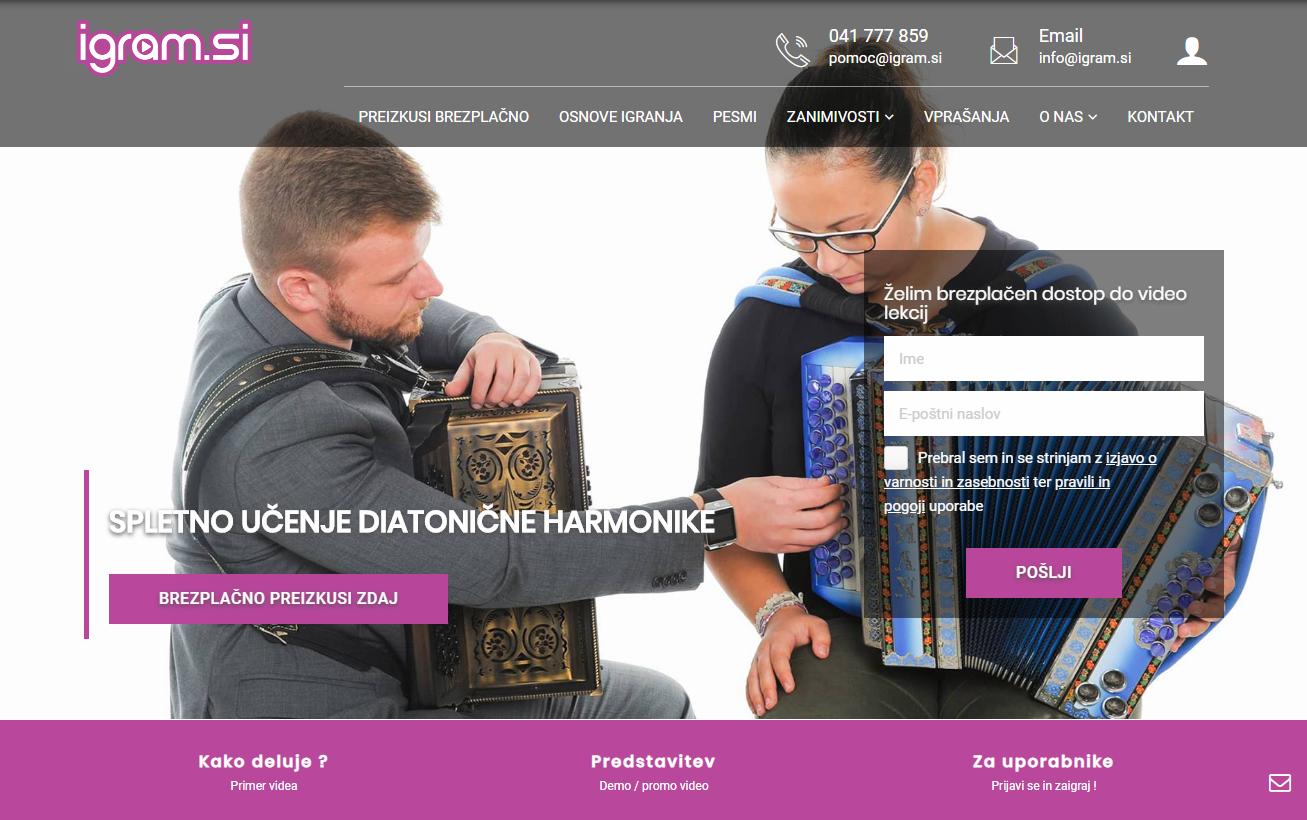 Učenje diatonične harmonike Igram.si